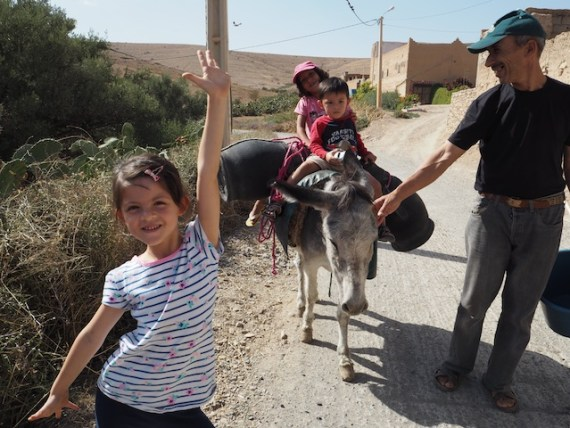 Walking with Donkey in Morocco