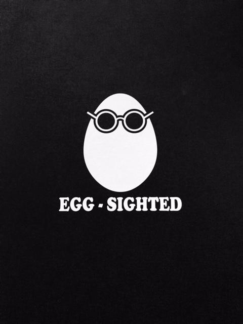 Egg-Sighted Sticker
