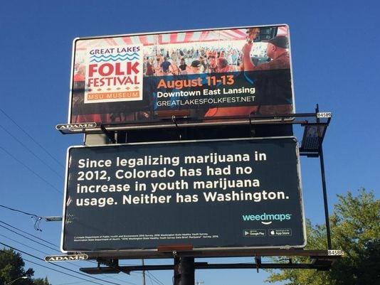 WeedMaps Billboard