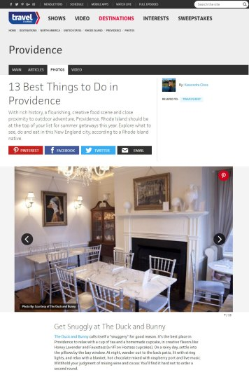 Travel Channel 13 Best things to do in Providence