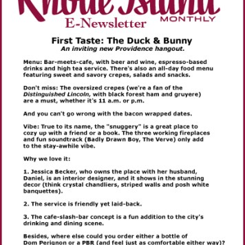 Rhode Island Monthly E-Newsletter
