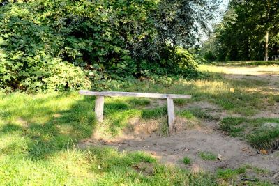 a bench symbolising happiness and sadness