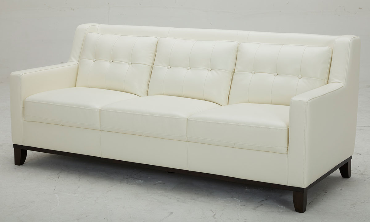 Mid Century White Leather Sofa The Dump Luxe Furniture Outlet