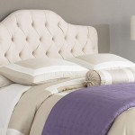Martinique King Button Tufted Headboard Ivory The Dump Luxe Furniture Outlet