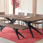 Airloft Modern Acacia Wood 6 Piece Dining Set The Dump Luxe Furniture Outlet