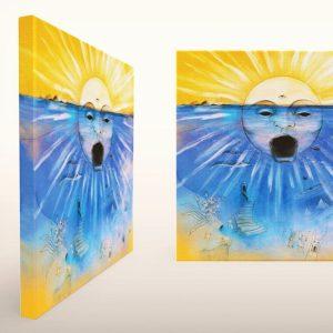 Subaquea printed canvas + digital download