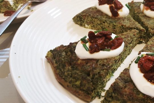 Persian herb omelette