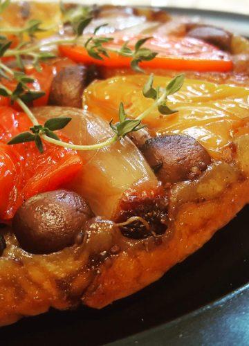 Roast vegetable tarte tatin