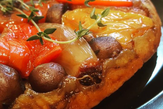Roast vegetable tarte tatin