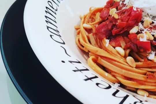 Red Hot Chili pasta puttanesca variation