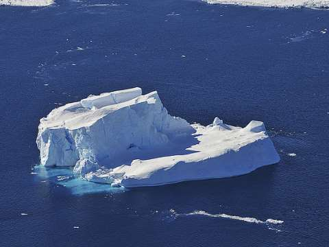 This iceberg in the Amundsen Sea was once part of a glacier. Photo: NASA HQ PHOTO via Flickr.