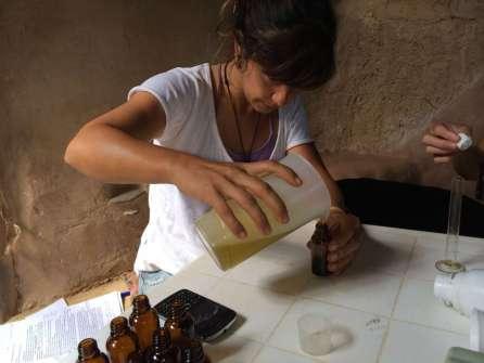 Bottling the massage oil