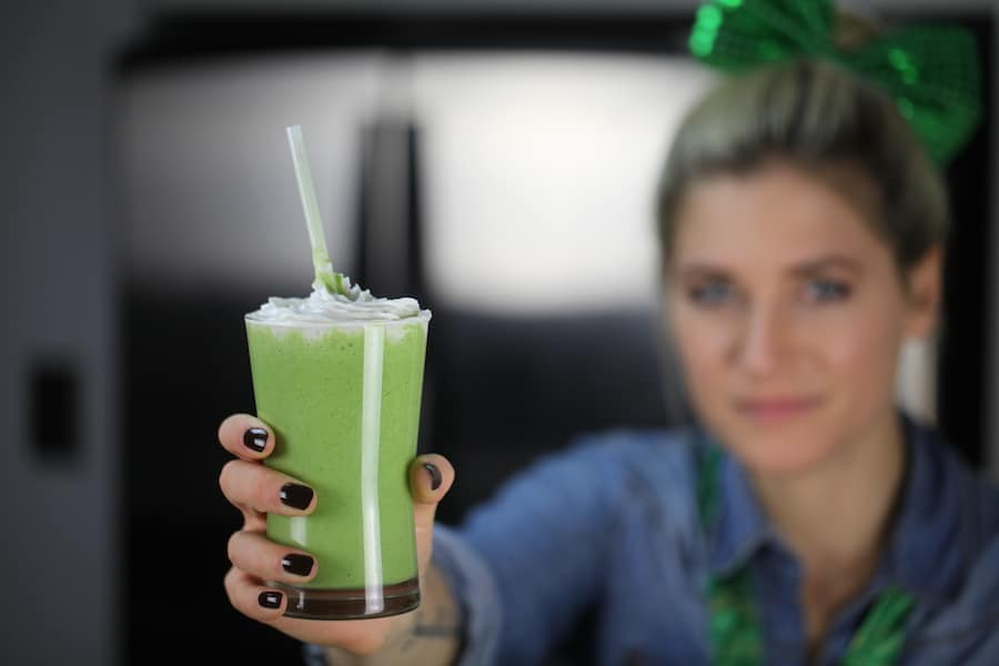 Vegan Shamrock Milk Shake