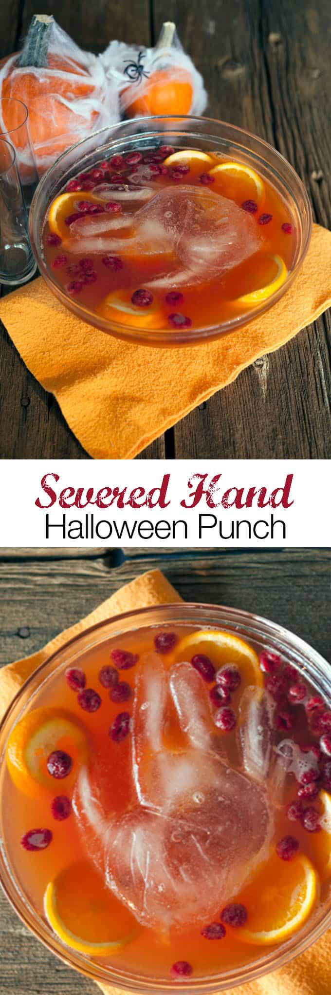 Halloween recipe Severed Hand Punch Recipe