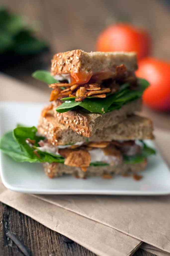 Vegan BLT sandwich recipe