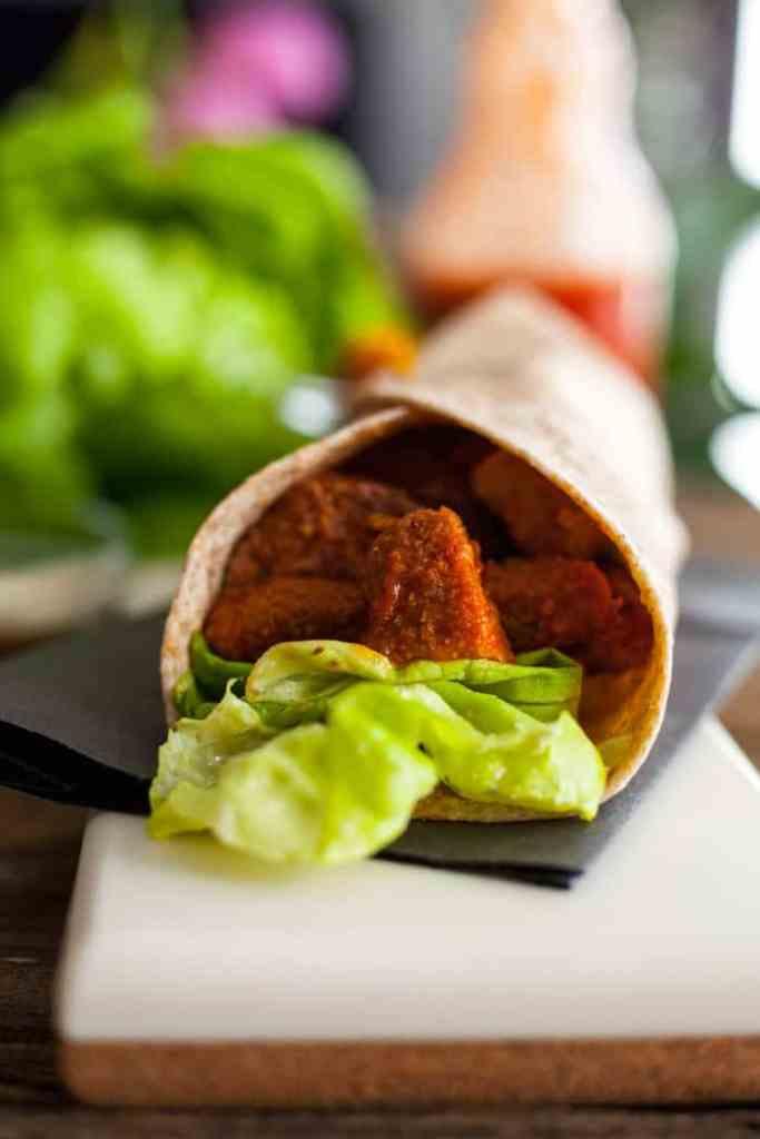 vegan buffalo chicken wrap