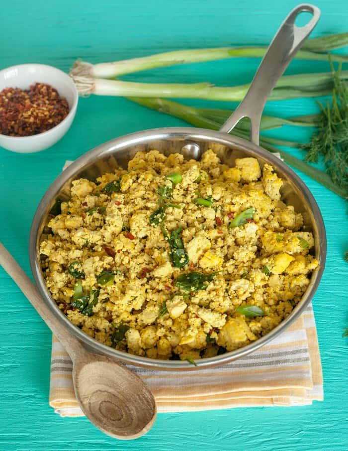 tofu scramble florentine recipe