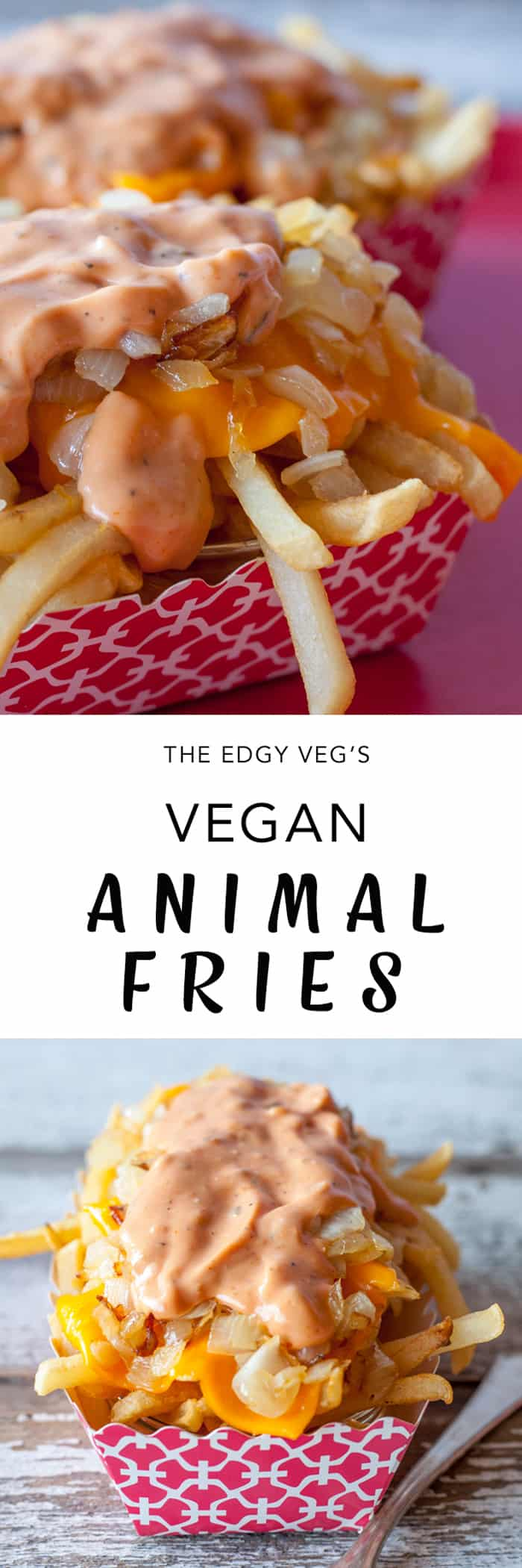 Vegan animal style fries recipe