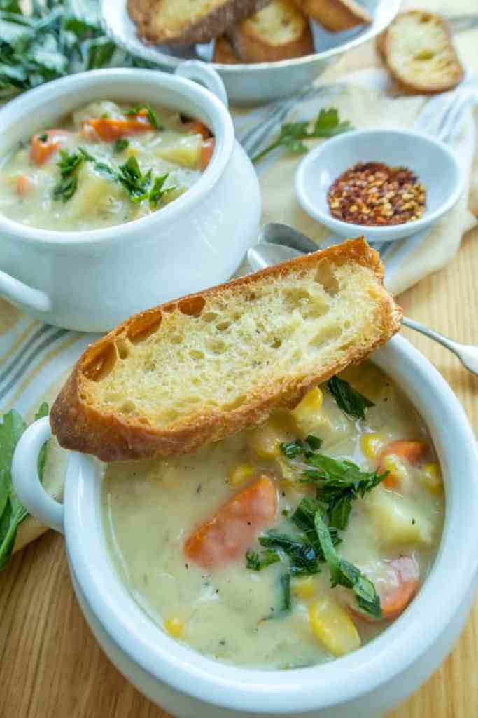 vegan corn chowder recipe