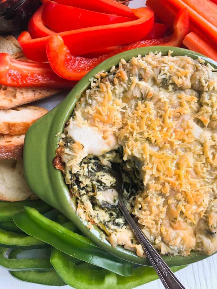vegan spinach dip