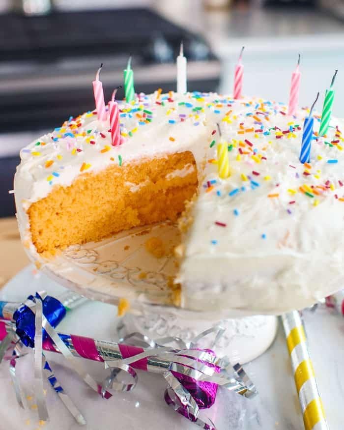 Vegan Creamsicle Cake