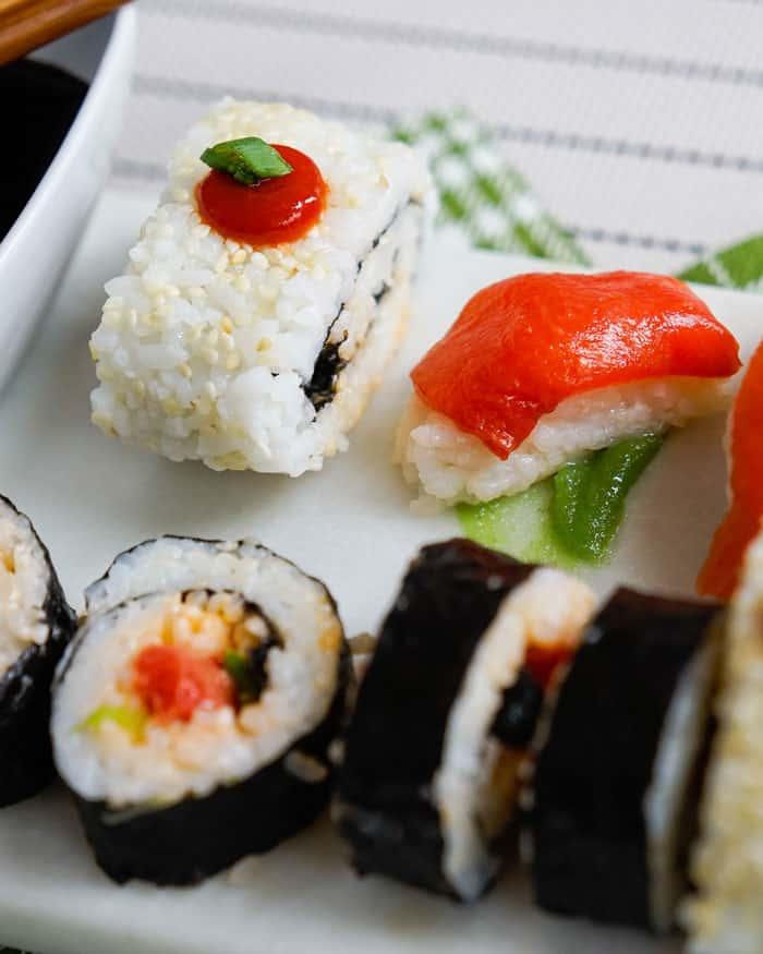 Watermelon Tuna sushi