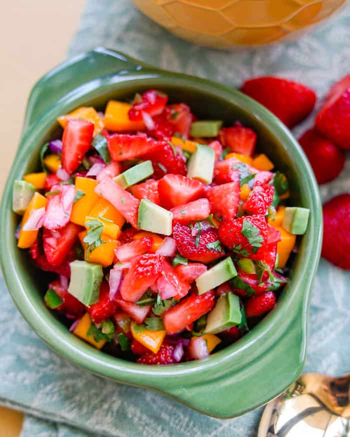 Spicy Strawberry Mango Salsa Recipe
