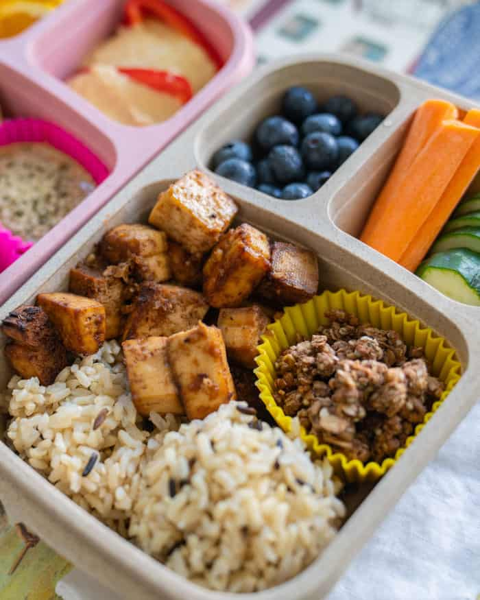 Sesame & Ginger Crispy Tofu Bento Box