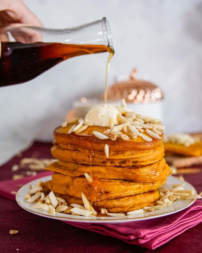 Best Vegan Pumpkin Spice Pancakes