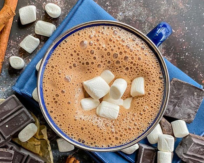 soy milk hot chocolate dairy free vegan