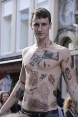 Body Art on Royal mile