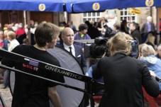 Tom Allen doing TV work at the Pleasance