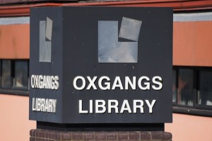 TER Oxgangs Library sign