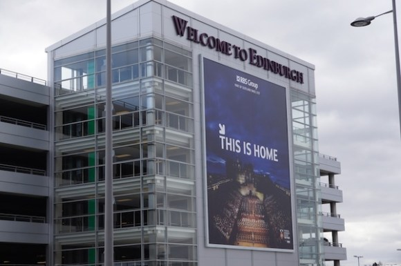 RBS 'This is home' campaign at Edinburgh Airport