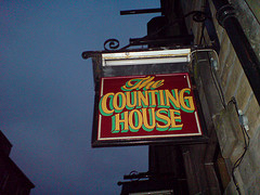 the counting house sign