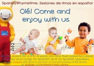 Spanish rhymetime poster