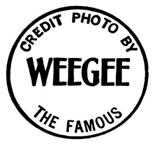 Weegee credit stamp