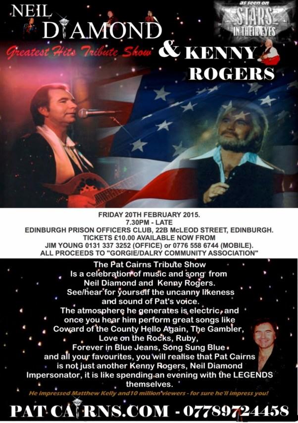 GDCA - POSTER - KENNY RODGERS & NEIL DIAMOND
