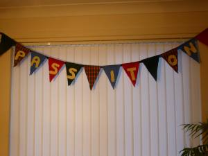 pass it on week bunting