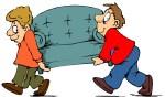 moving a sofa clip art