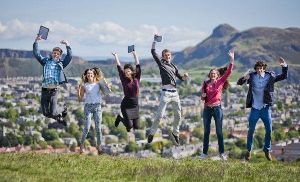 (Left to right) Sam Gregory, Rebecca Robertson, Vickie Henry, Adam Balfour, Bridgit Garvie, Joe Birchall at the launch of CodeClan in Edinburgh (Photography by Chris Watt)