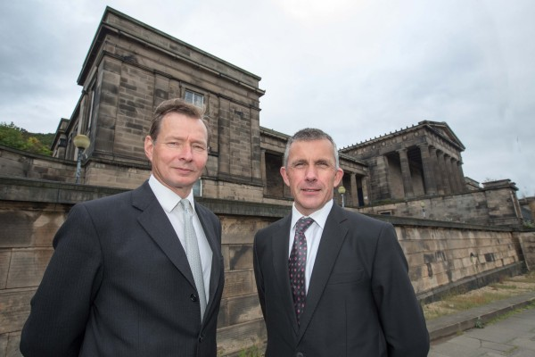 Willliam Gray Muir of RHSPT and Dr Ken Taylor Headteacher of St Mary's Music School