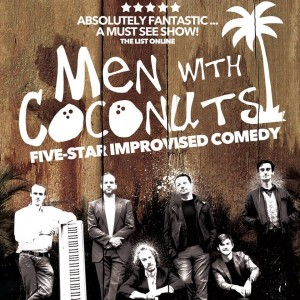 men with coconuts