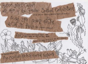 scottish radical herb network burns ceilidh