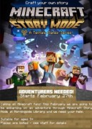 minecraft 4 week course at morningside library - poster