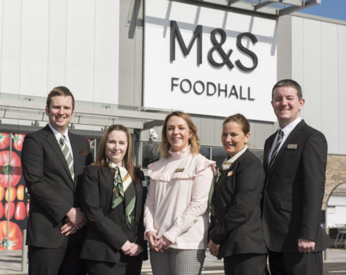 Store manager, Alyson Crombie with her M&S Foodhall Chesser management team (names available)