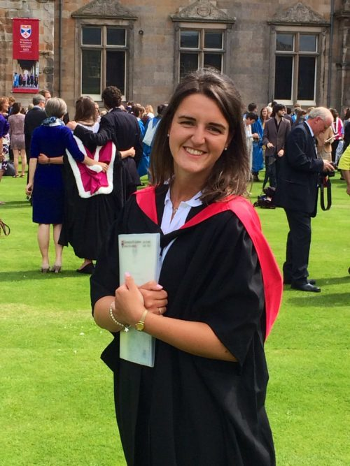 Morna graduating university