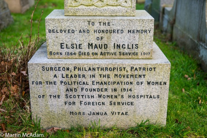 Elsie Inglis gravestone