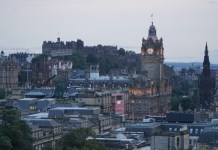 Vista of Edinburgh from Calton HIll