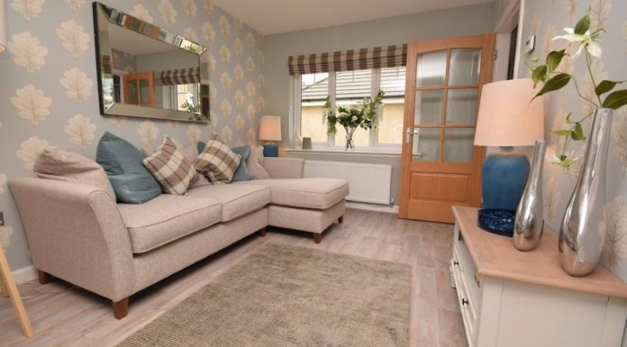 Living room in a new Allanwater home